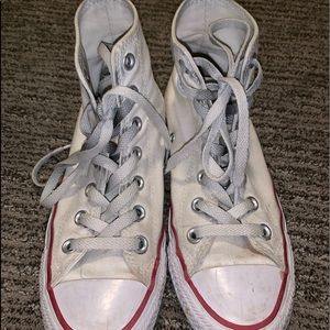 Womens High Top White Converse Size 6.5